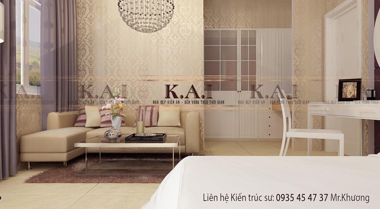 Thiết kế nội thất hiện đại cho phòng ngủ master