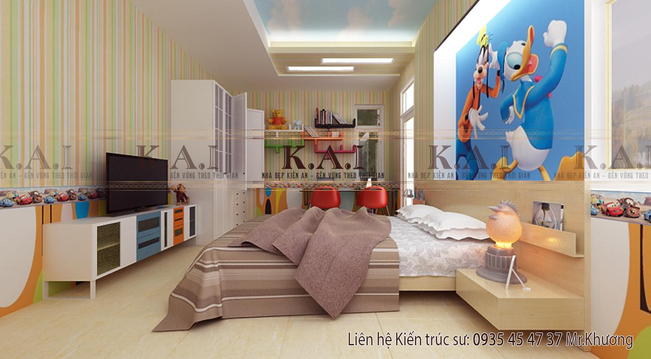 Phòng ngủ hiện đại của bé trai