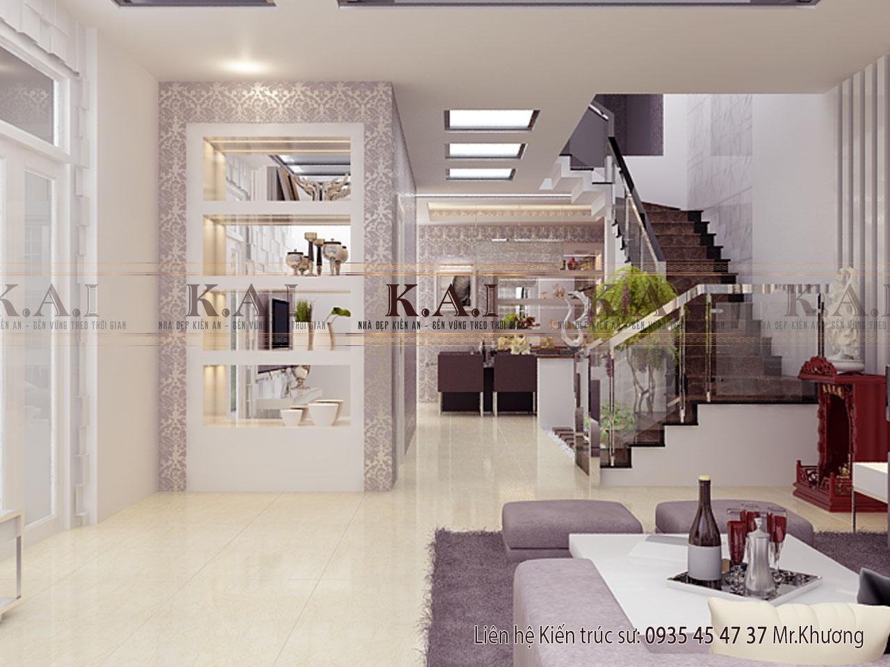 Mẫu thiết kế nội thất hiện đại tông màu ấn tượng tại Bà Rịa