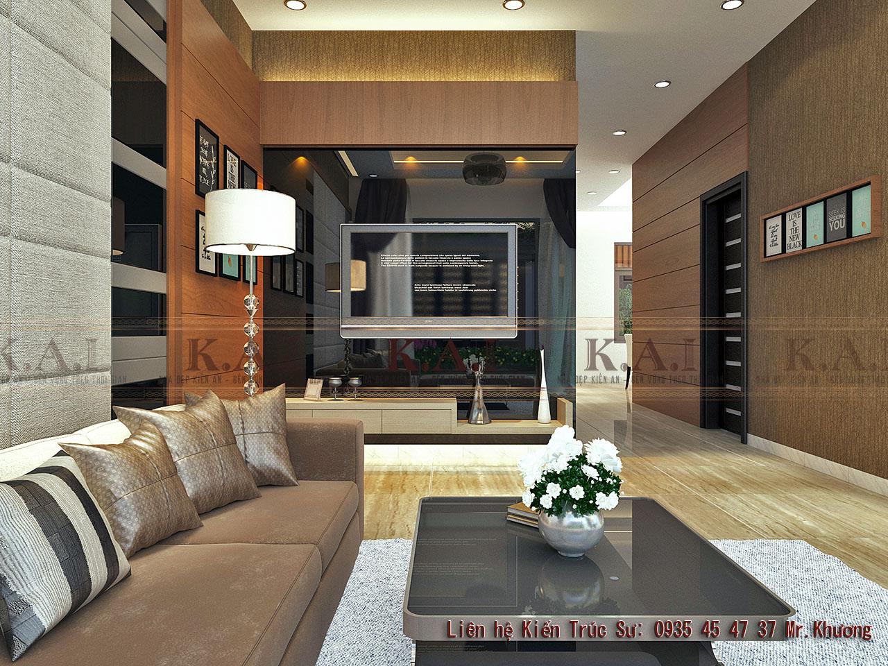 Thiết kế nội thất nhà biệt thự hiện đại 3 tầng tại Hải Phòng