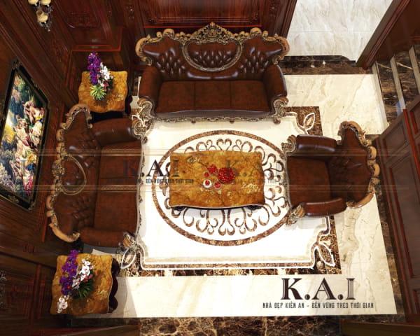 Nội thất sang trọng cho các phòng trong biệt thự cổ điển