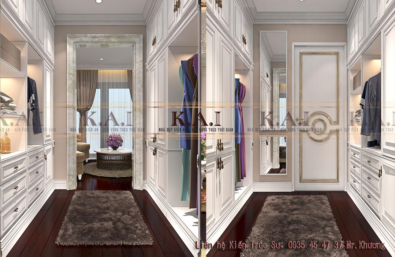 trang trí phòng ngủ đẹp và sang trọng - phòng thay đồ