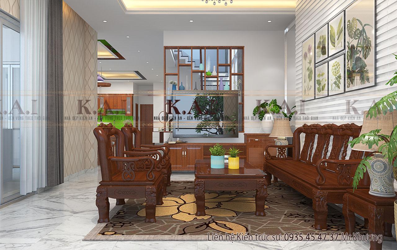 Thiết kế nội thất biệt thự 2 tầng 8×15 tại quận Tân Bình
