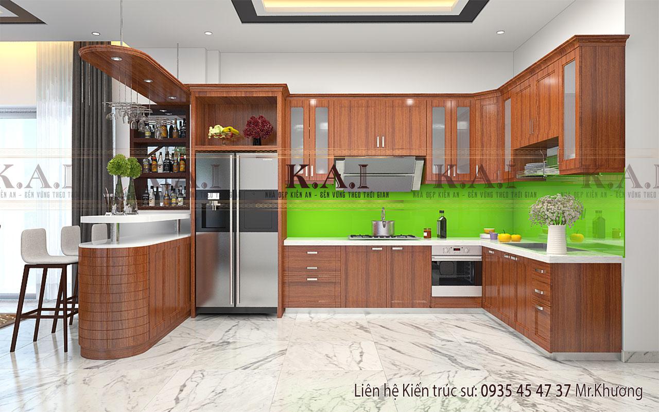 Thiết kế tam giác bếp