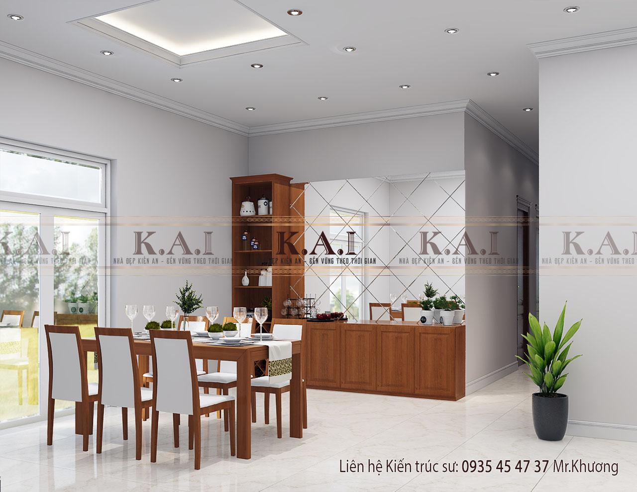 Phòng bếp thiết kế nội thất nhà cấp 4 mái thái