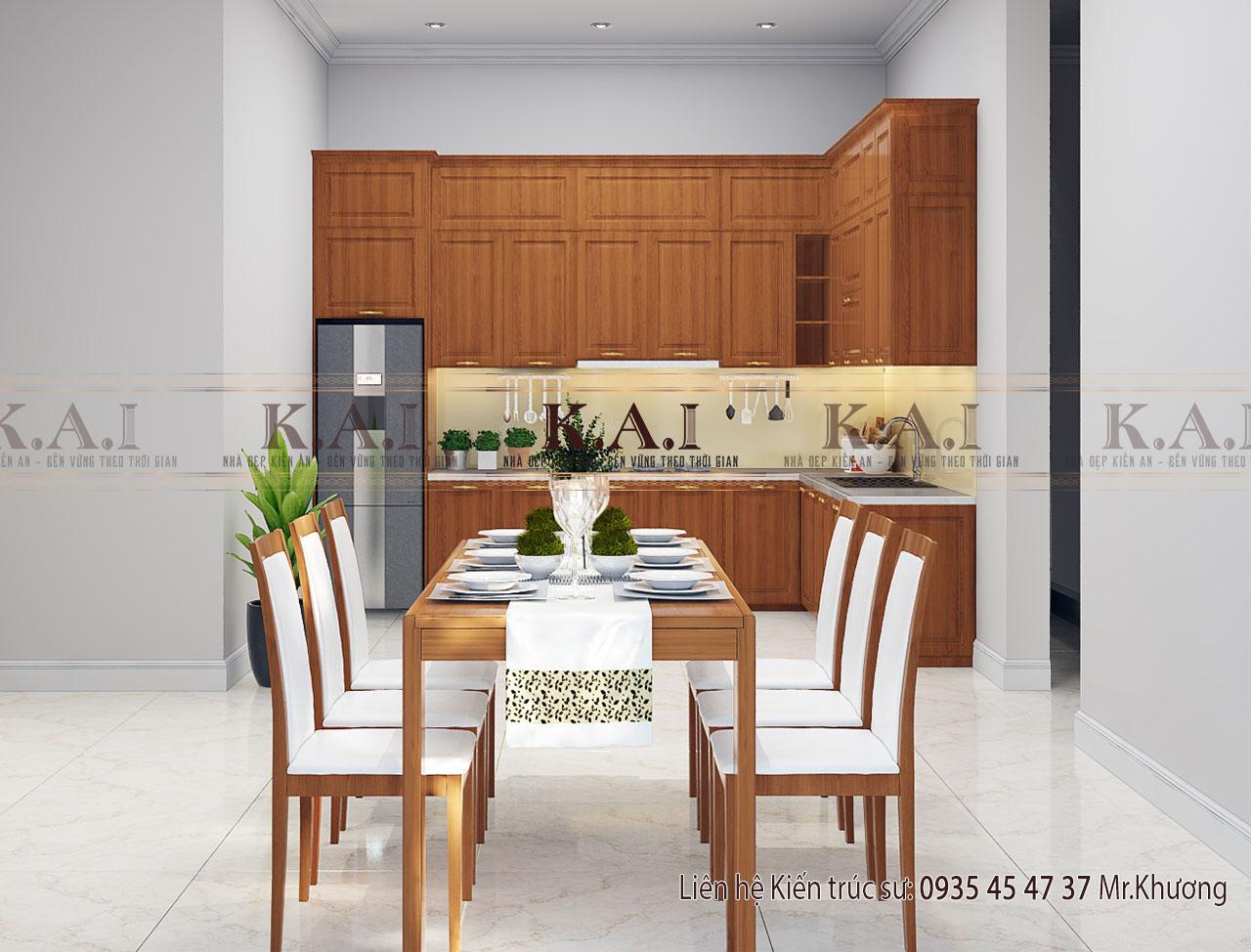 Phòng bếp nhà cấp 4 mái thái