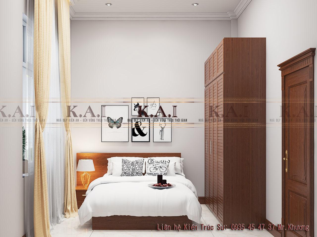 Thiết kế nội thất phòng ngủ 12m2