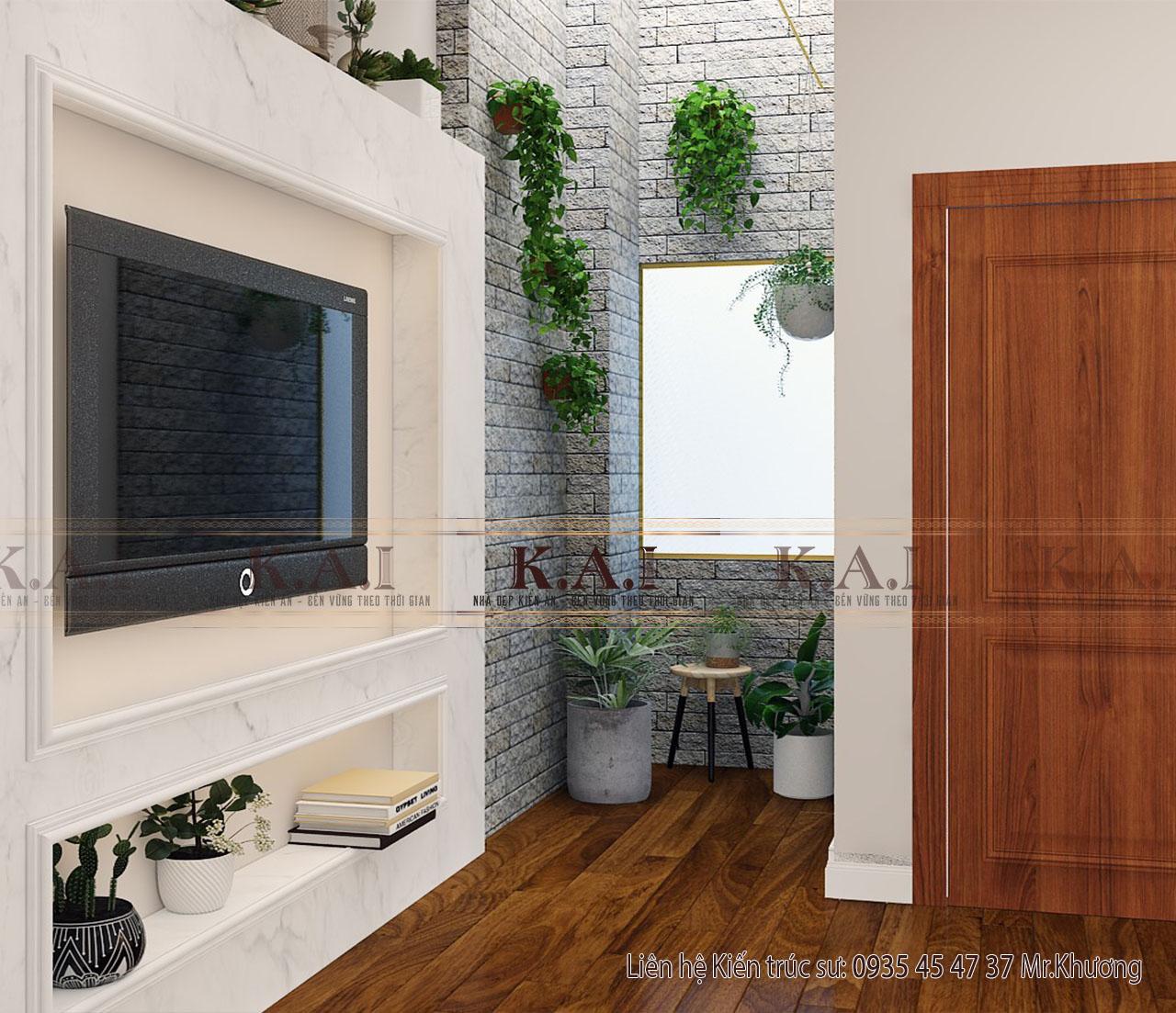 Phòng ngủ thiết kế nội thất nhà ở kết hợp kinh doanh