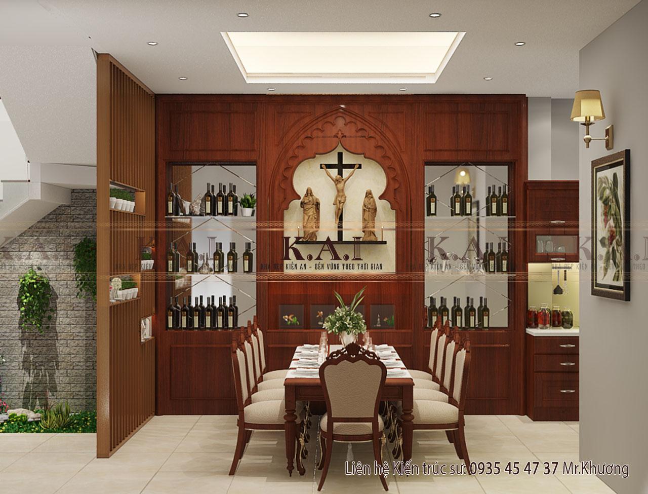 Thiết kế nội thất phòng bếp – ăn nhà ở kết hợp kinh doanh