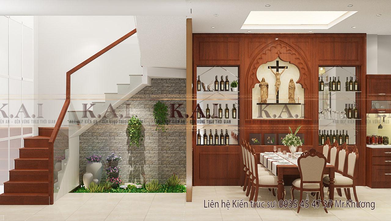 Thiết kế nội thất nhà 4 tầng kết hợp kinh doanh tại Bình Giã