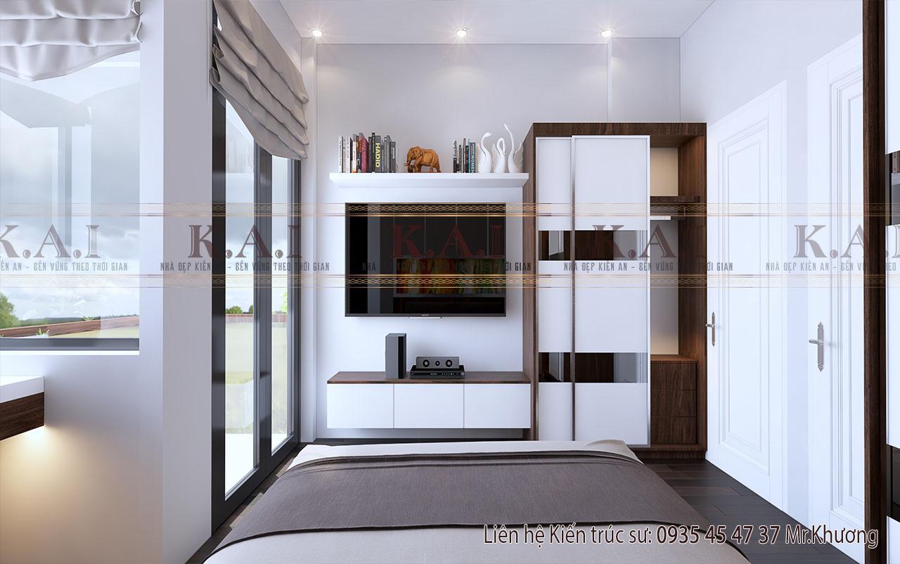 Phòng ngủ mẫu thiết kế nội thất nhà ống 4m