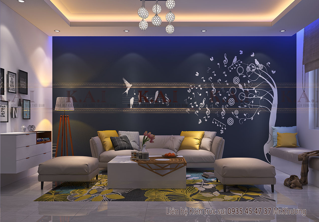 thiết kế nội thất nhà ống mặt tiền 6m