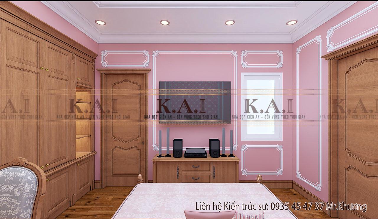 thiết kế nội thất phòng ngủ cho con gái