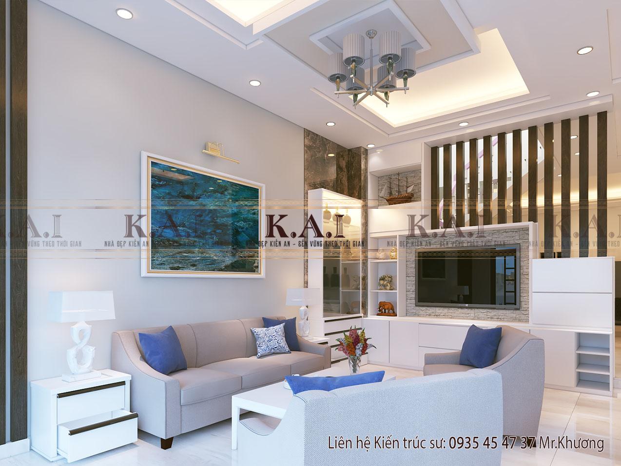 Thiết kế nội thất phòng khách nhà hiện đại