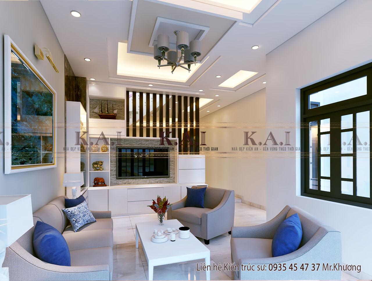 Thiết kế nội thất nhà hiện đại 3 tầng 110m2 tại Đồng Nai