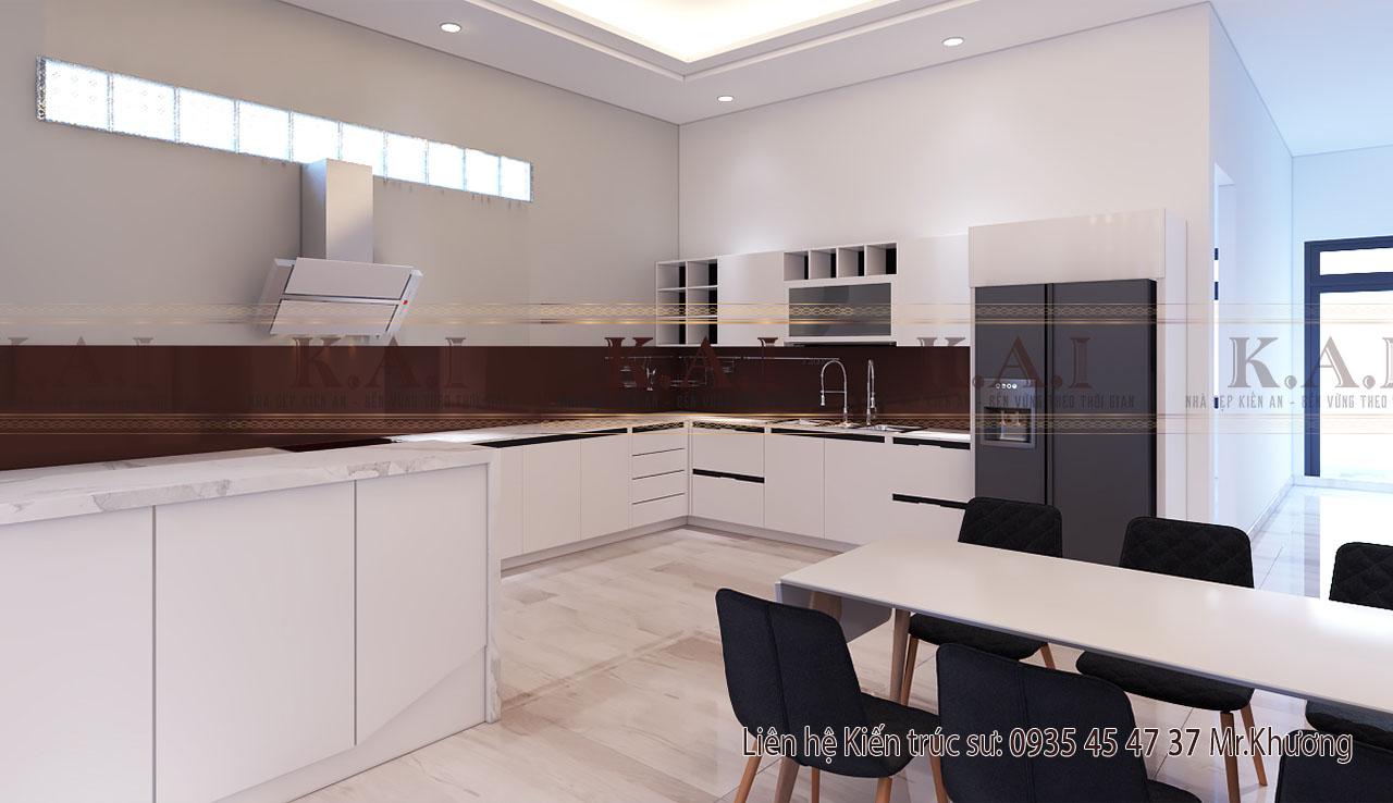 Thiết kế nội thất phòng bếp nhà hiện đại