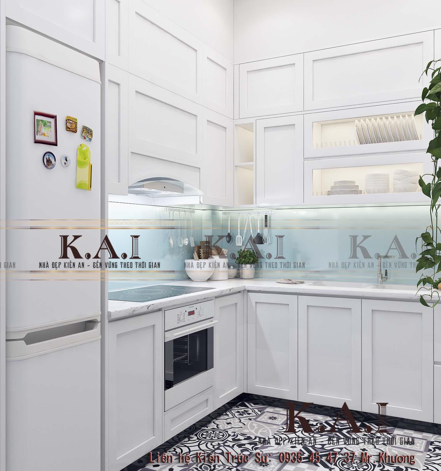 Phòng bếp với thiết kế nội thất nhà ở theo phong cách hiện đại