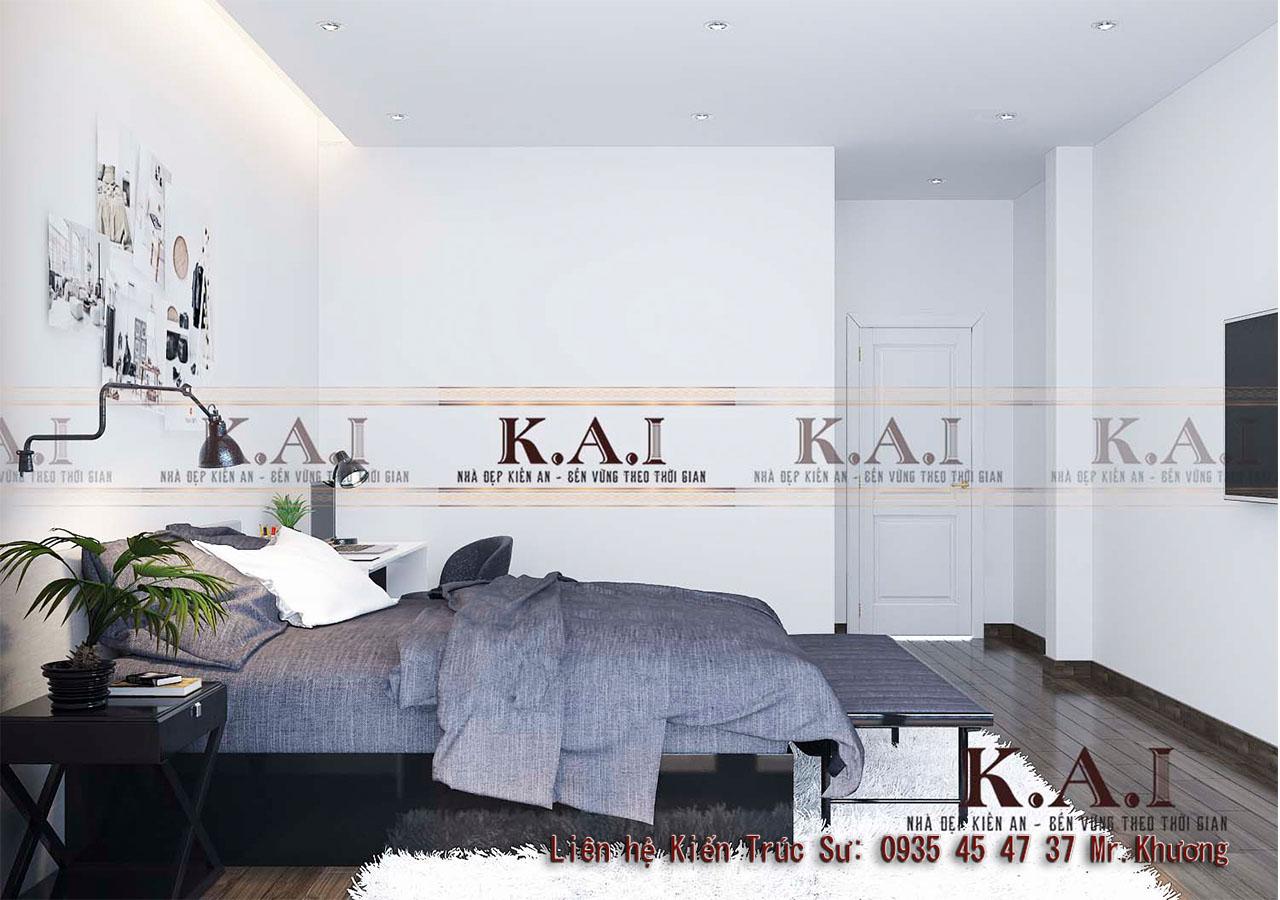 thiết kế phòng ngủ 28m2