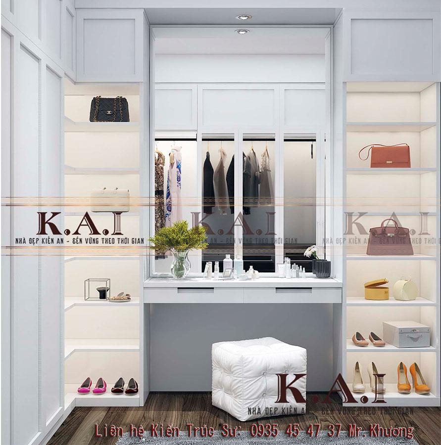 thiết kế phòng để quần áo