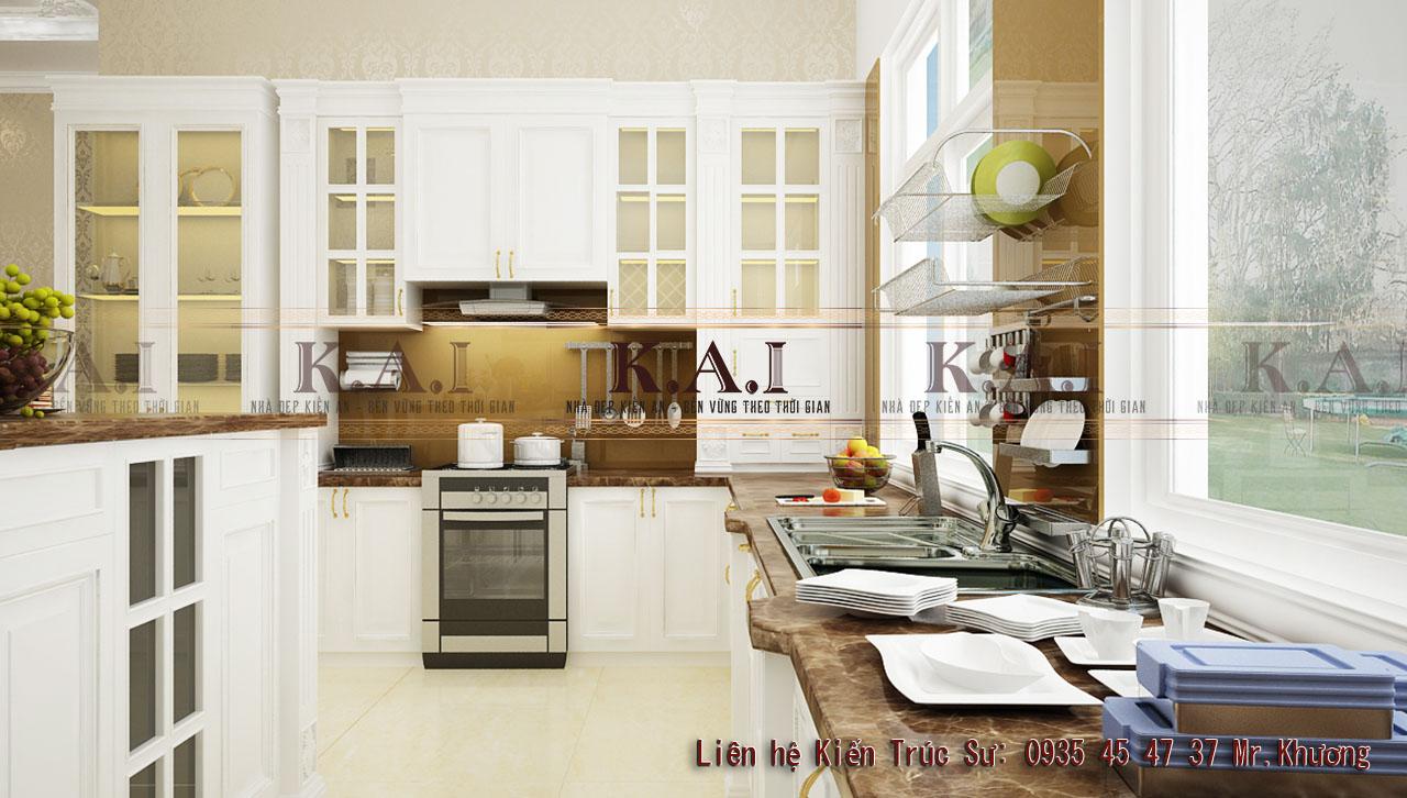 Thiết kế nội thất phong cách tân cổ điển cho phòng bếp