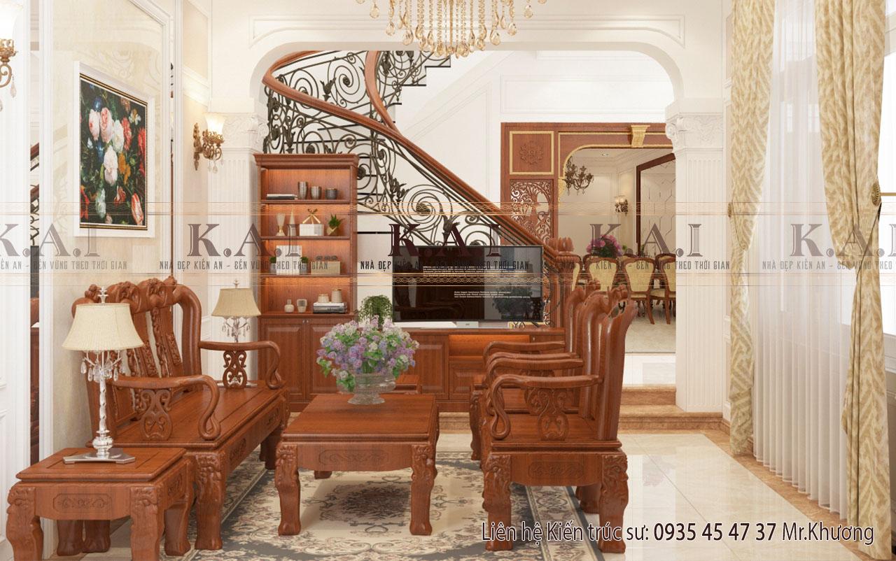 Thiết kế nội thất đồ gỗ tự nhiên đẹp trang nhã tại Bình Tân