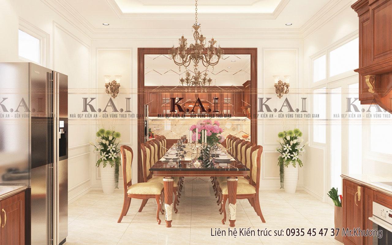 Thiết kế nội thất đồ gỗ tự nhiên cho phòng bếp