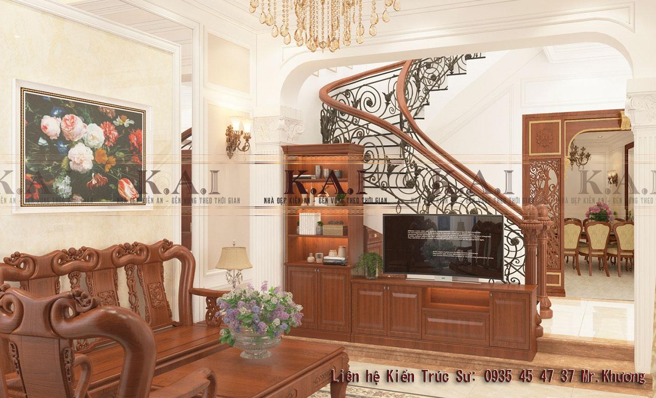Trang trí phòng khách bằng đồ gỗ tự nhiên