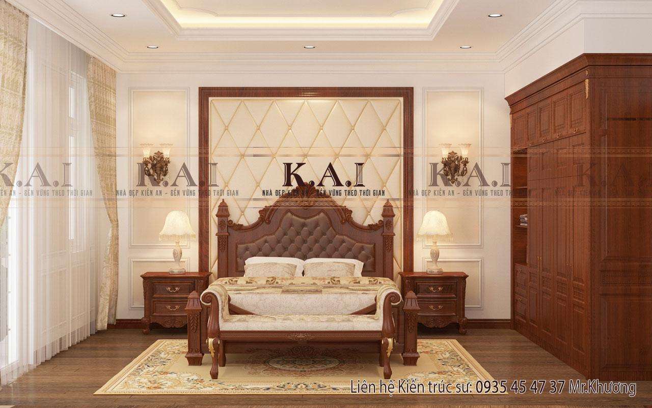 Thiết kế nội thất đồ gỗ tự nhiên cho phòng ngủ master