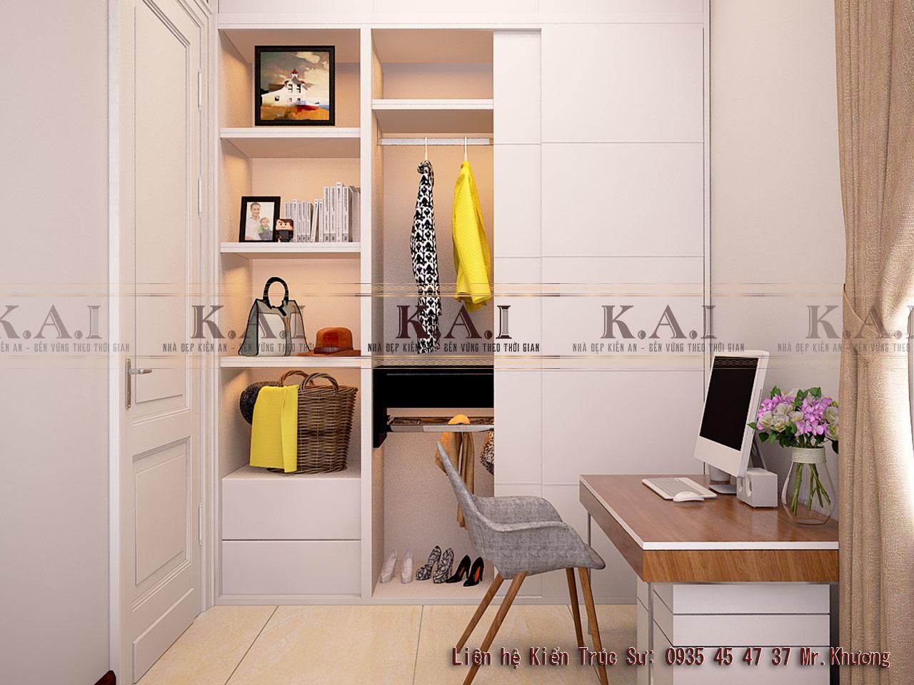 thiết kế nội thất cho phòng ngủ 12m2