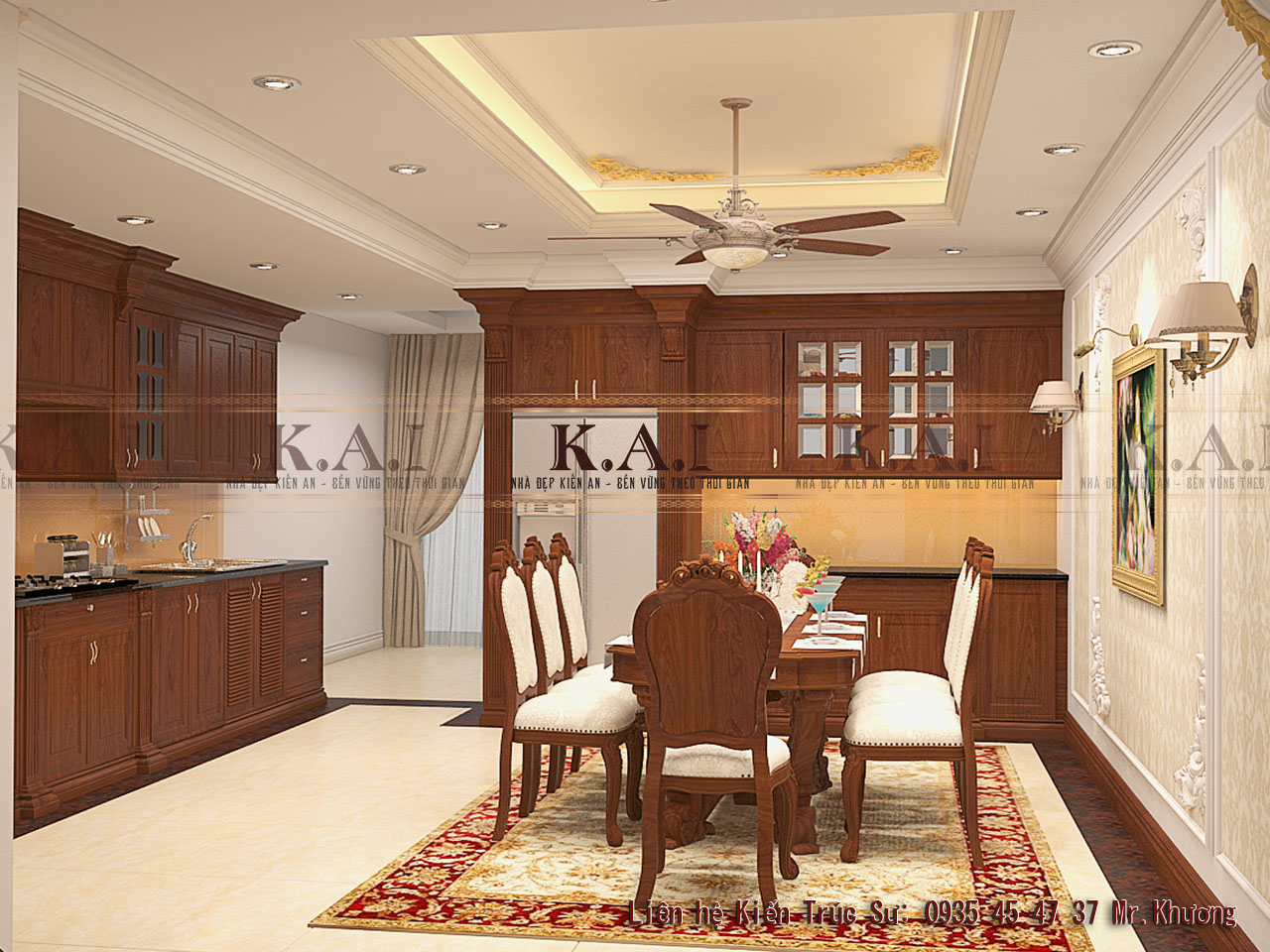 thiết kế nội thất phòng bếp - ăn