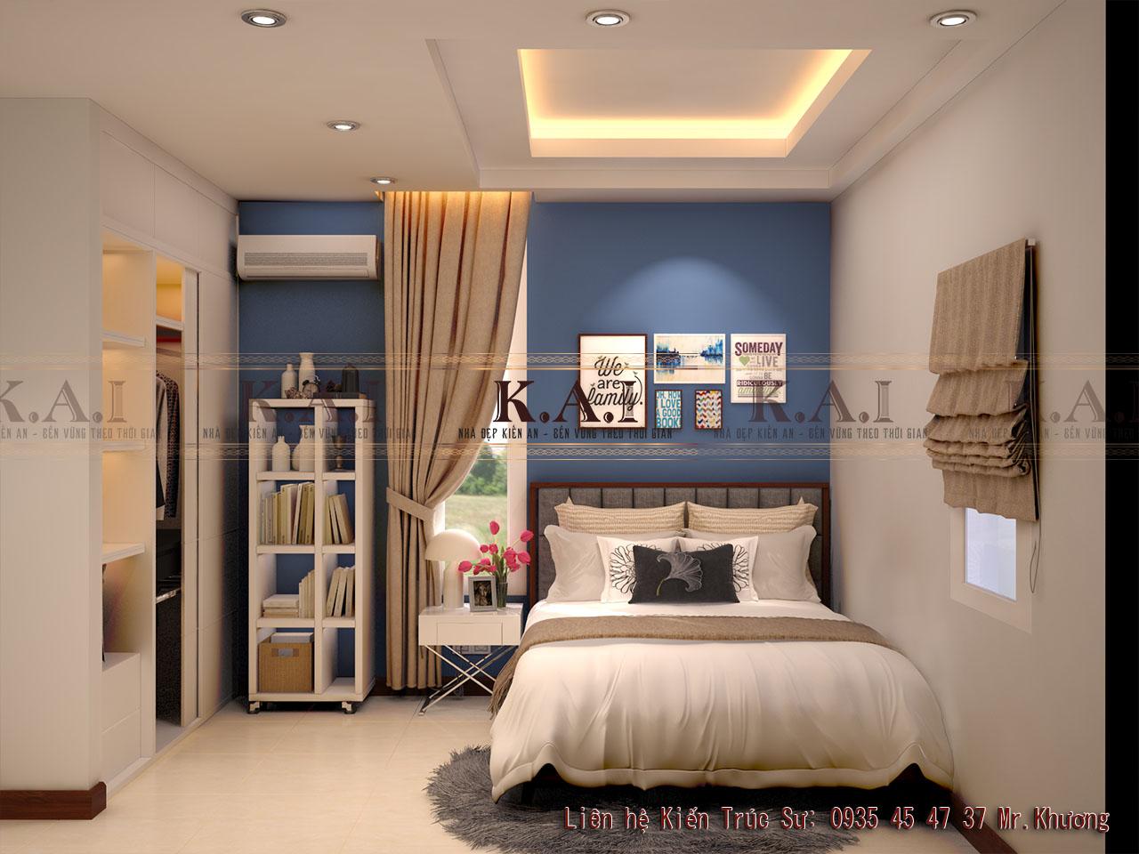 thiết kế nội thất phòng ngủ 16m2