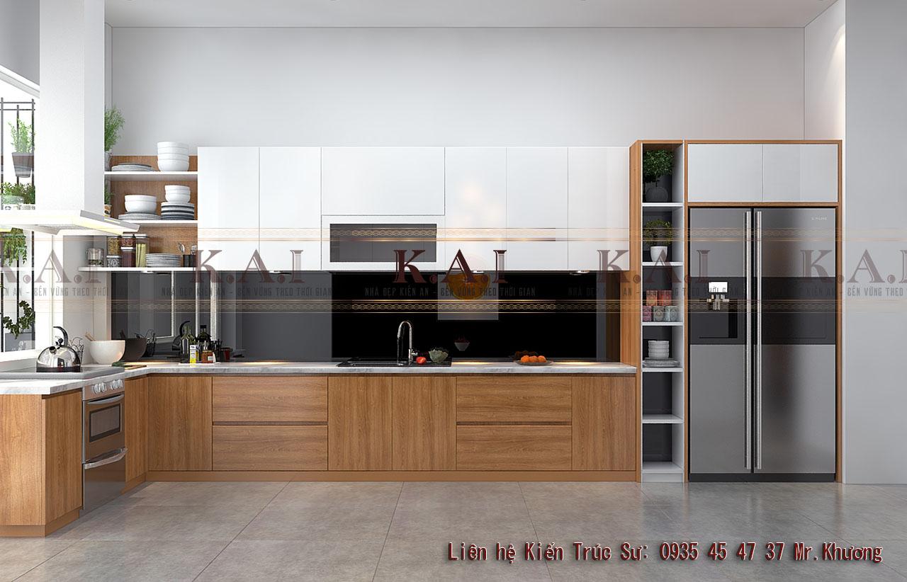 Thiết kế bếp ăn phong cách sang trọng đơn giản