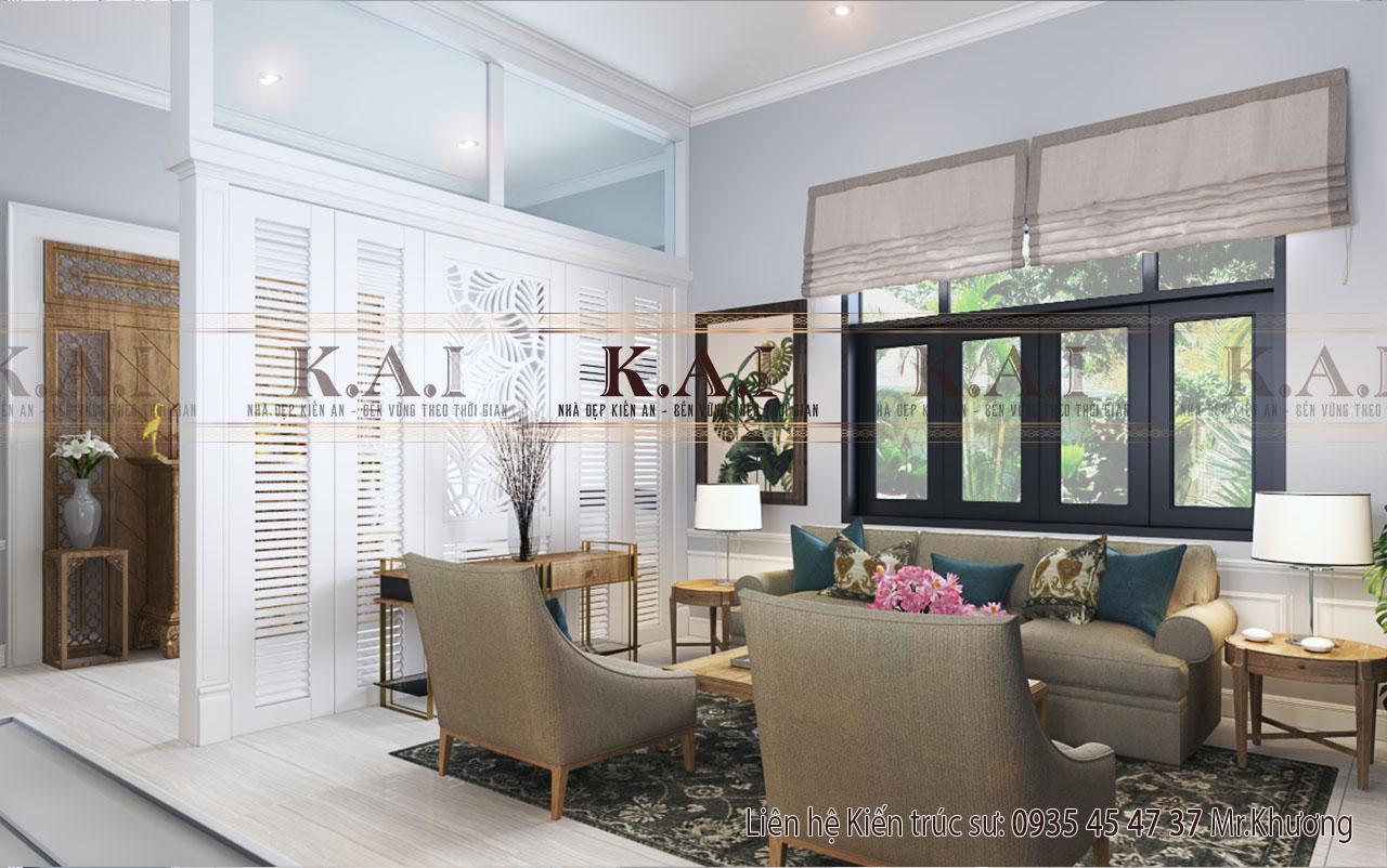 Mẫu thiết kế nội thất biệt thự 1 tầng – Chị Oanh, Long An