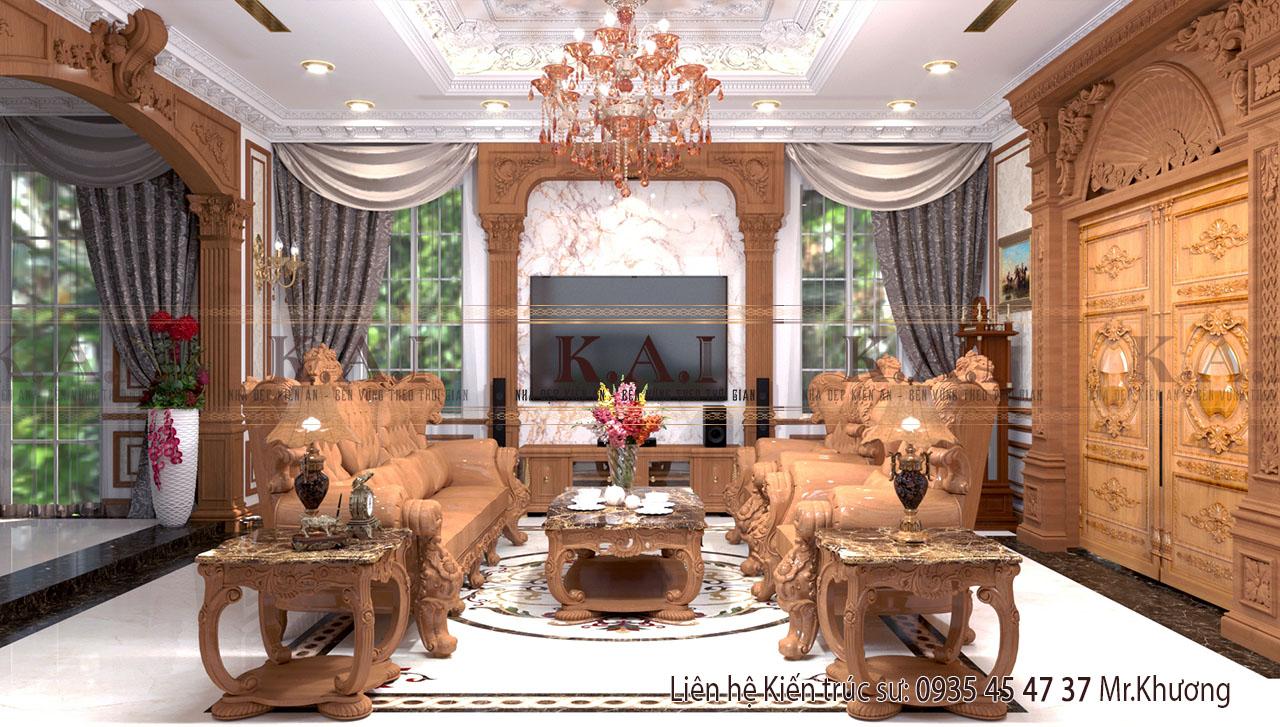 Mẫu thiết kế nội thất theo phong cách cổ điển tại Vĩnh Long