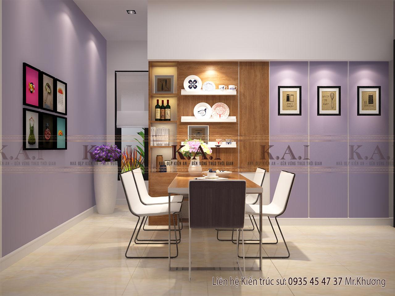 Thiết kế bếp - mẫu thiết kế nội thất nhà 80m2