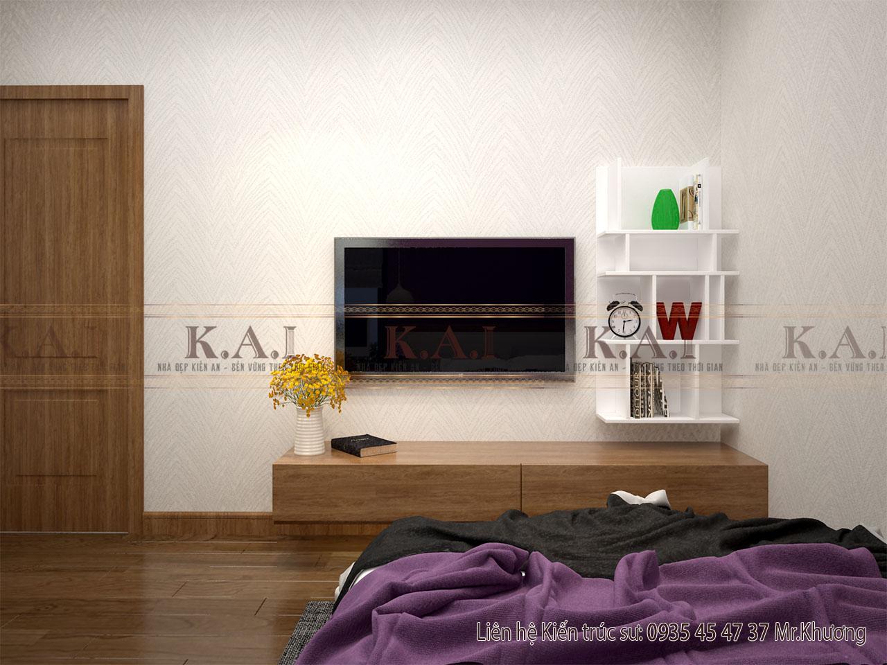 mẫu thiết kế phòng ngủ 12m2