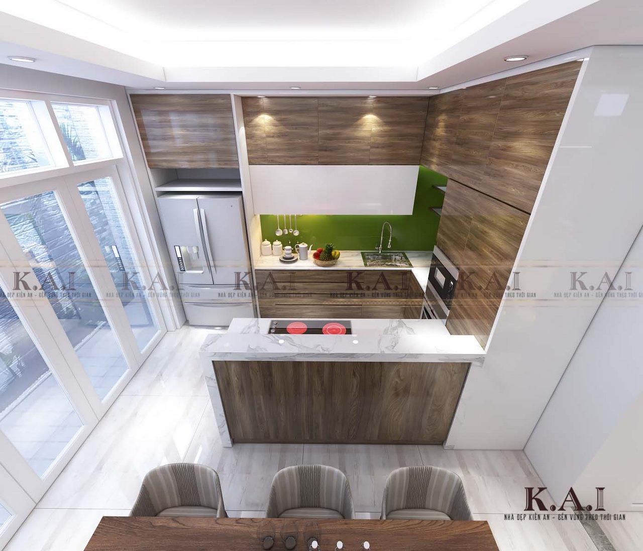 thiết kế nội thất phòng bếp nhỏ