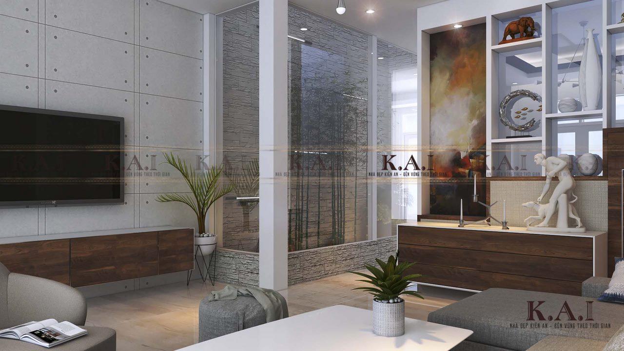 Thiết kế nội thất phòng khách 25m2