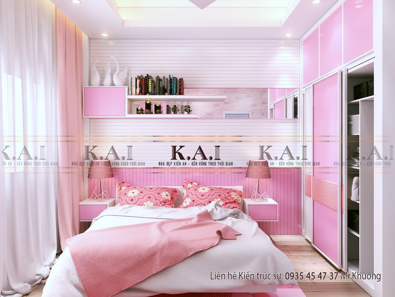 Thiết kế phòng ngủ 18m2