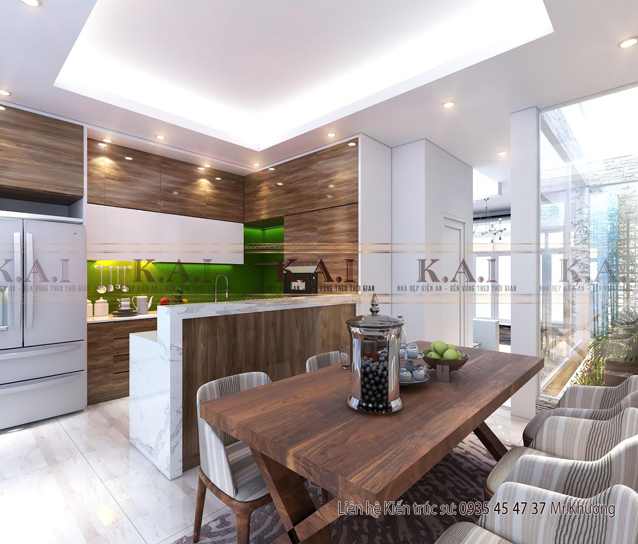 Thiết kế phòng bếp nhỏ nhà ống 5m