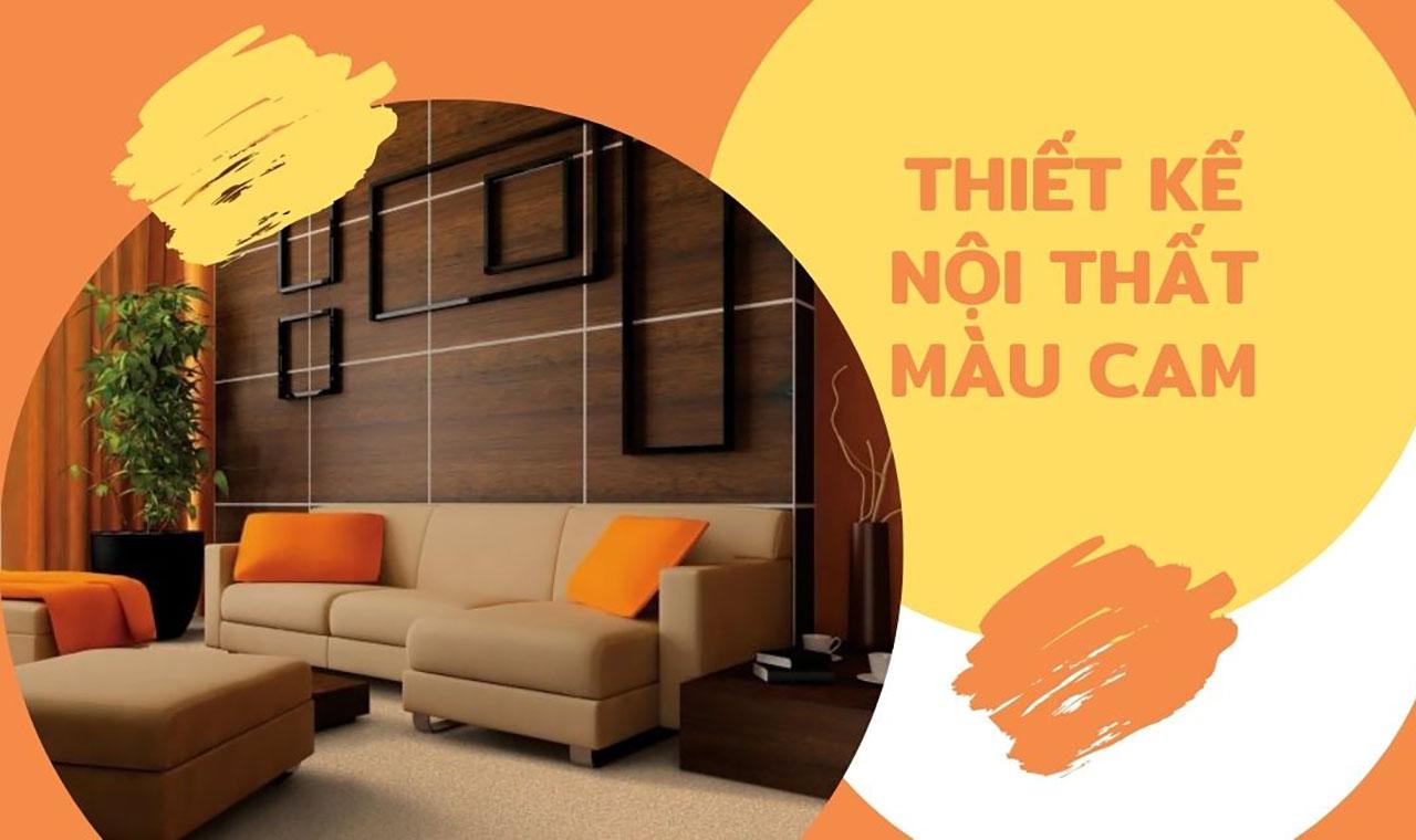 Nội thất màu cam tuyệt vời cho không gian năng động