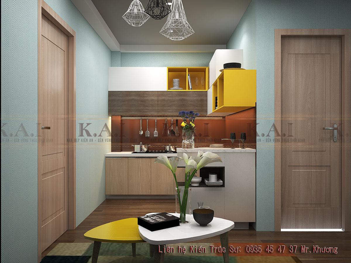thiết kế chung cư mini 35m2