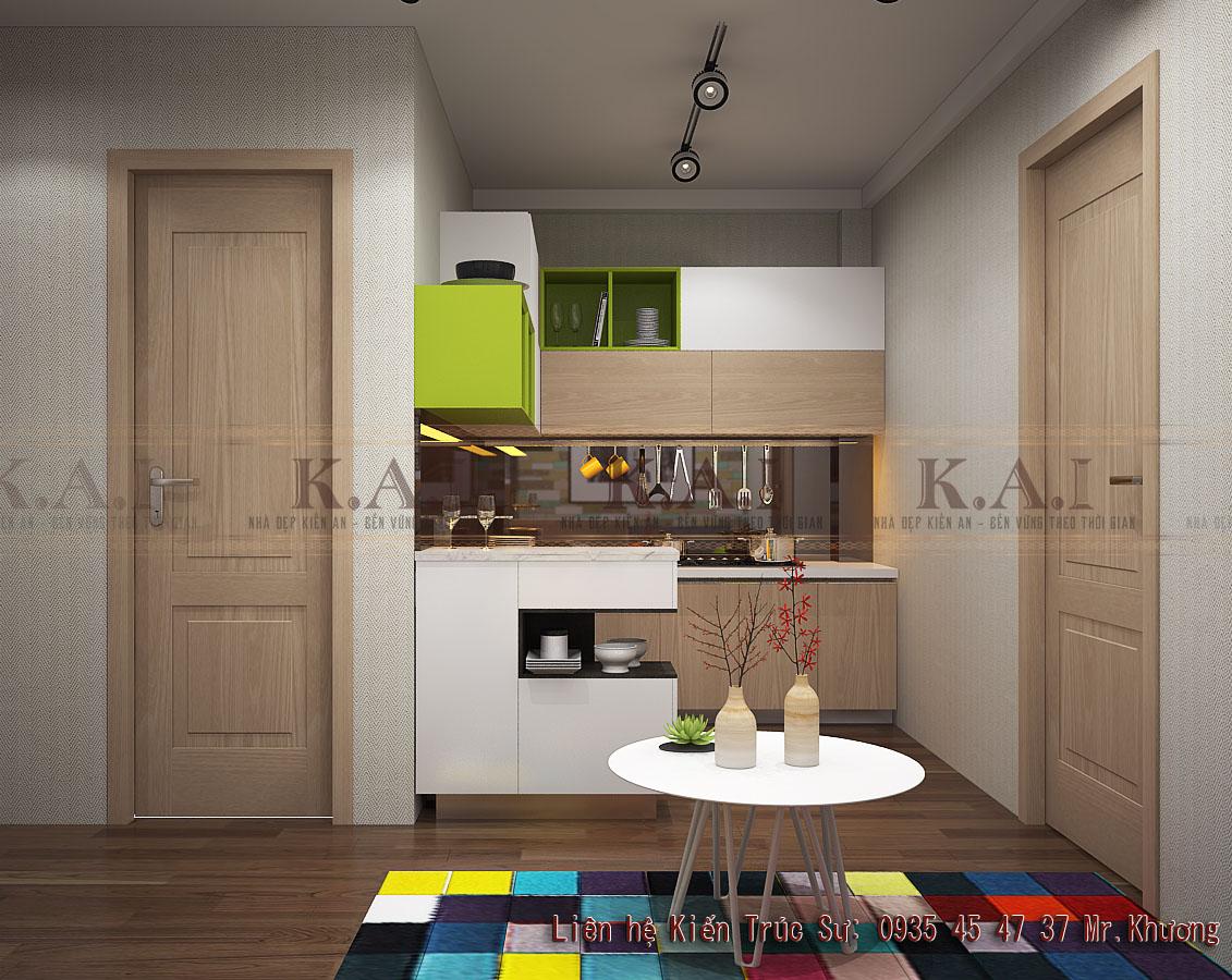 Mẫu 5 thiết kế chung cư mini 35m2
