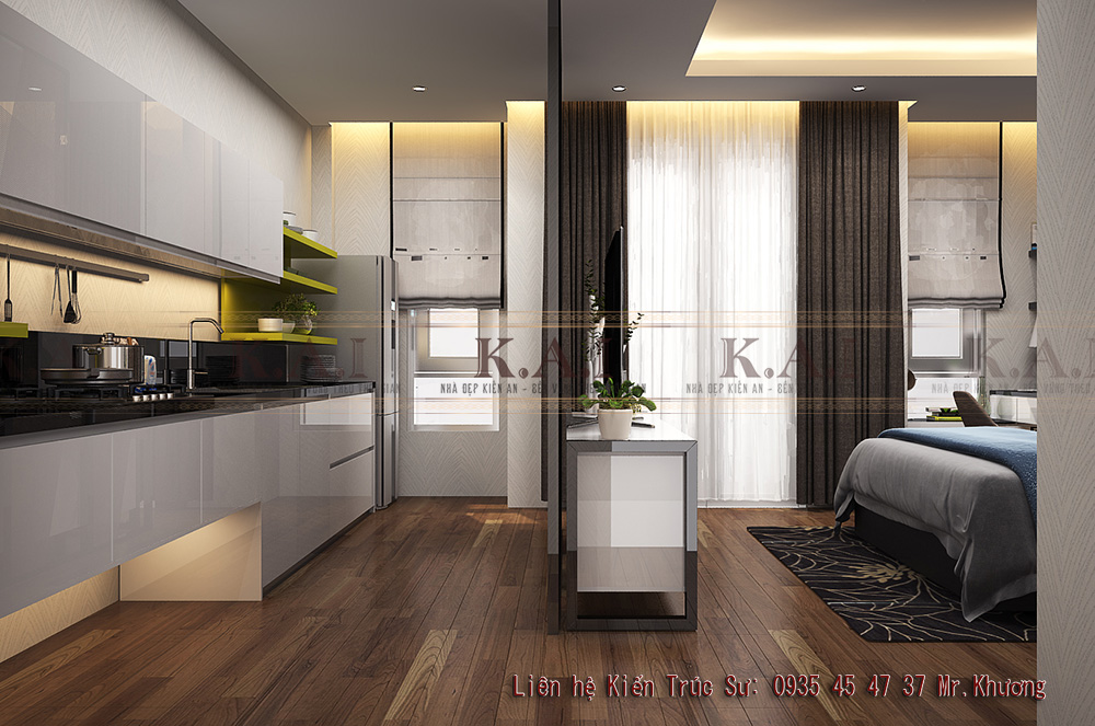 6 mẫu thiết kế căn hộ nhỏ từ 20m2 đến 35m2 – Anh Tú, Quận 7