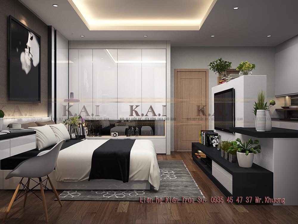 thiết kế căn hộ 35m2
