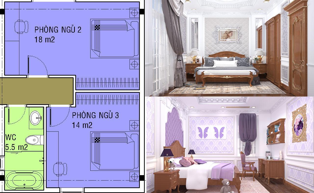 Kích thước phòng ngủ tiêu chuẩn bao nhiêu m2 là hợp lý?