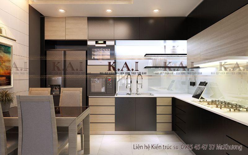 Gợi ý mẫu thiết kế phòng bếp nhà ống đẹp và tiện nghi