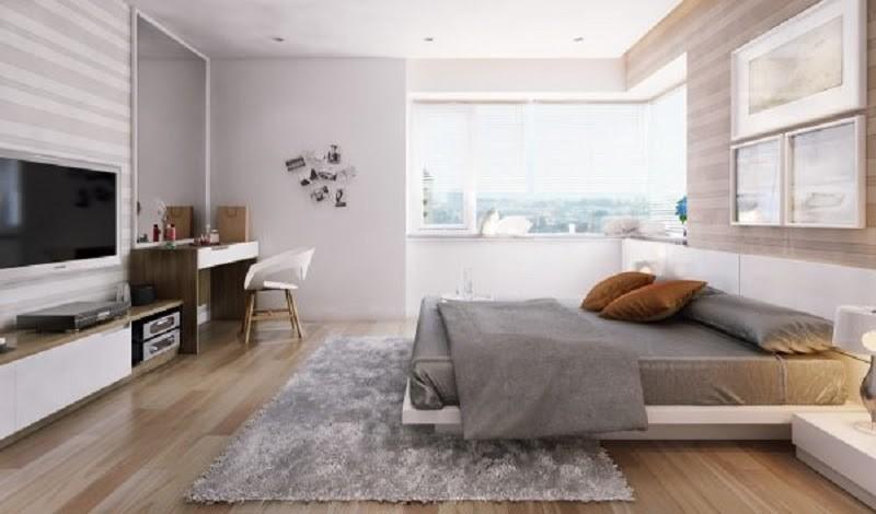 Thiết kế phòng ngủ chung cư đẹp cho khoảng thời gian nghỉ ngơi thật xứng đáng