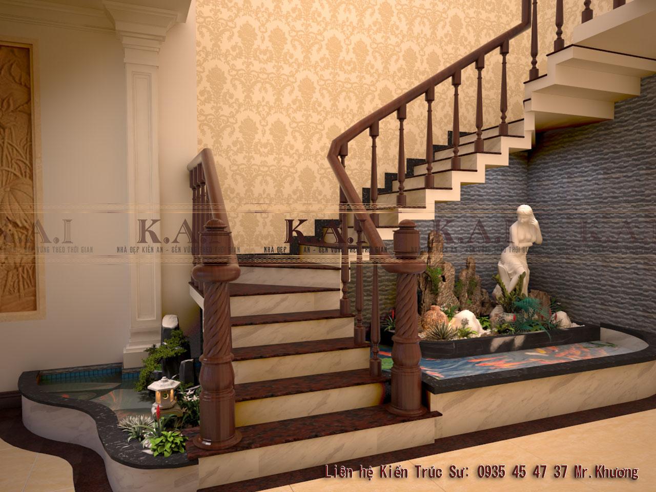 Mẫu cầu thang gỗ đẹp
