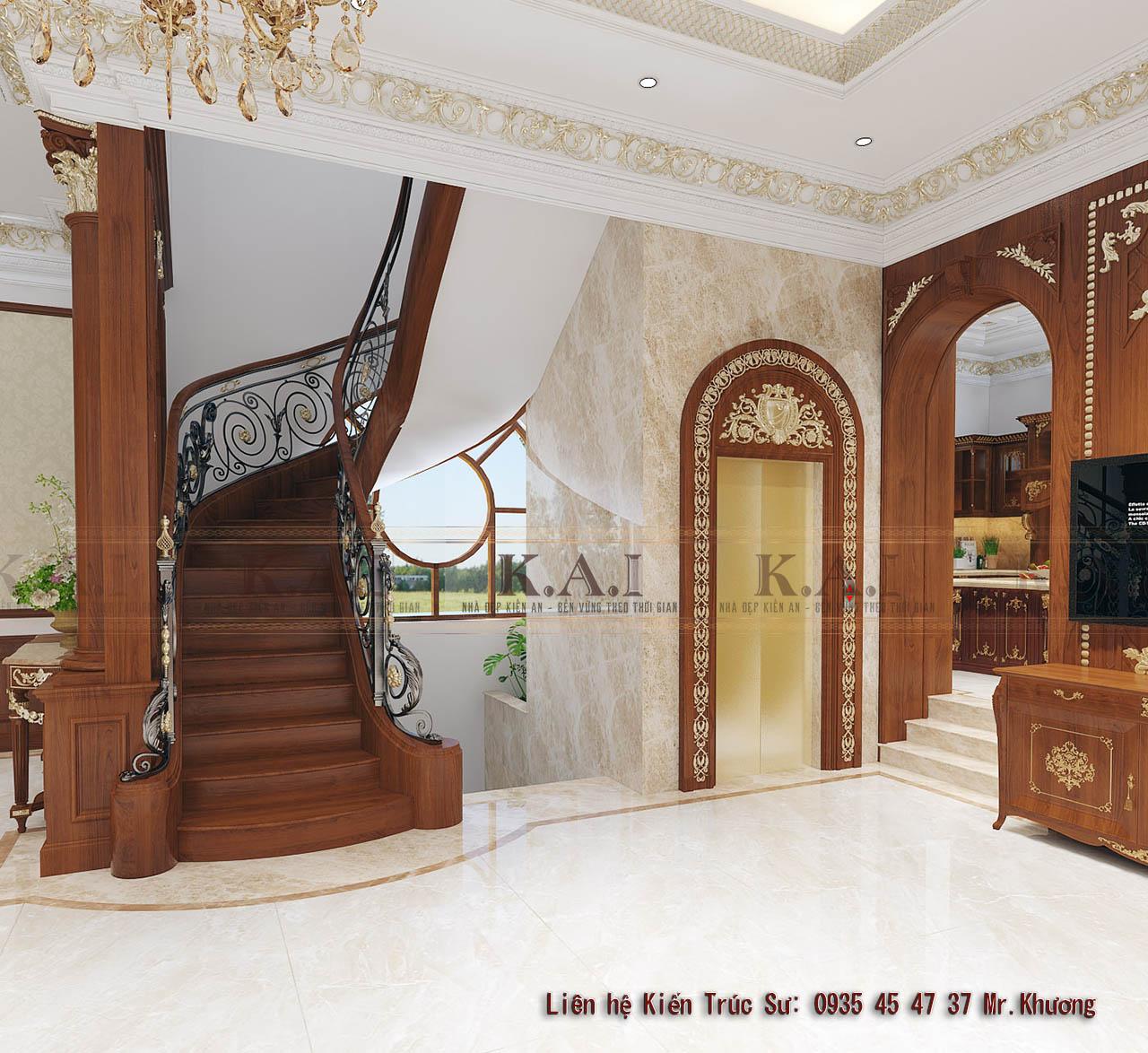 Những thiết kế sảnh cầu thang đẹp và trang trọng cho biệt thự